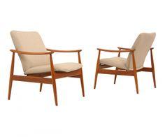 France & Son Model 138 Teak Lounge Chairs by Finn Juhl
