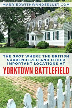 See the spot where the British surrendered and other important historical locations at Yorktown Battlefield near Colonial Williamsburg. East Coast Travel, East Coast Road Trip, Williamsburg Virginia, Colonial Williamsburg, Virginia Vacation, Virginia Beach, Japan Travel, Travel Usa, Virginia Attractions