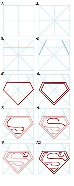 How to draw the superman symbol