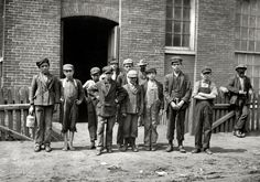 "Sagamore Mill Boys: August 1911. Fall River, Mass. ""Group containing the following boys who work in the Sagamore Manufacturing Co.  Photograph by Lewis Wickes Hine."