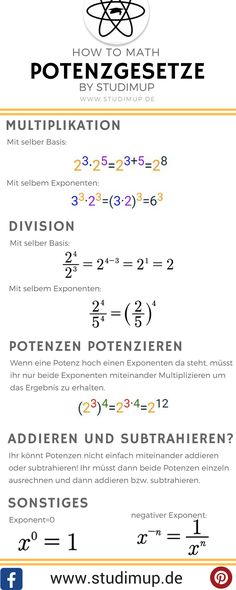 116 best Mathe lernen images on Pinterest in 2018 | School hacks ...