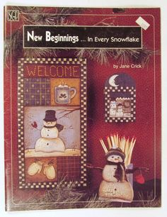New Beginnings In Every Snowflake by Jane Crick Tole Painting Book by PhotographyByRoger on Etsy