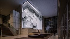 "Refik Anadol's new ""data sculpture"" unveiled at the SOM-designed 350 Mission in San Francisco"