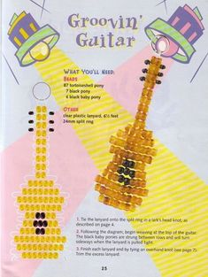 Guitar with seed beads instead of pony beads