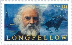 """USA - .Henry Wadsworth Longfellow fue un poeta estadounidense que escribió poemas que aún hoy siguen gozando de fama popular, entre los que están """"The Song of Hiawatha"""", """"Paul Revere's Ride"""" y """"Évangéline""""."""