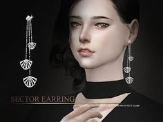 Sector earring for you, hope you like ,  Found in TSR Category 'Sims 4 Female Earrings'