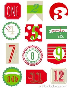 FREE 12 days of christmas countdown free printable