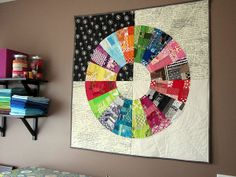"""Image of Wheel Quilt Pattern for sale.  """"Stitched In Color"""" also has great tutorial's. I love her quilts!"""