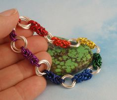 Rainbow Bracelet Kit  Linked Loops I Chainmail  by UnkamenSupplies, $25.00