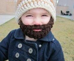 Baby + Beard   Funny Every Time bahahaha Crochet Beard e772499ea1cf