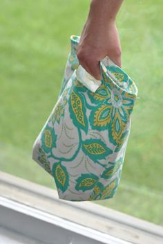 Reusable Lunch Bag tutorial. I've been using a Meijer bag over & over...yes the same one.