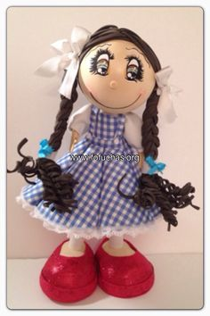 Dorothy Wizard of Oz 3D Fofucha Foamy Doll.