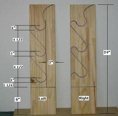 horizontal gun rack plans