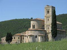 Toscana tour. Abbazia di S. Antimo by siro.gassamigli, via Flickr