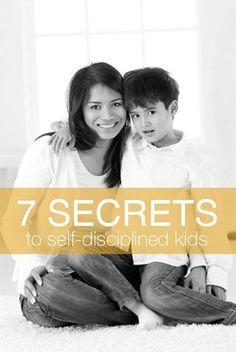 Learn the 7 secrets to #self-disciplined kids! #discipline