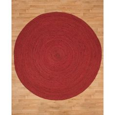 Natural Area Rugs Brussels Jute Hand Woven Natural Area Rug Rug Size: Round 6'