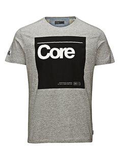 CORE by JACK & JONES - T-Shirt von CORE - Slim fit - Rundhalsausschnitt - 3D-Markenlogo-Print an der Vorderseite - Markenlogo-Print an einem der Ärmel 100% Baumwolle...
