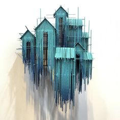 New architectural sculptures by david moreno appear as three dimensional drawings colossal salvabrani Modern Art, Contemporary Art, Architectural Sculpture, Wood Sculpture, Wood Wall Art, Installation Art, Diy Art, Creative Art, Amazing Art