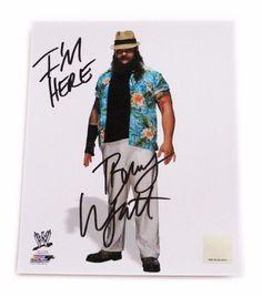 WWE BRAY WYATT HAND SIGNED AUTOGRAPHED 8X10 PHOTO FILE PHOTO WITH COA 5