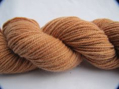 Sandalwood Naturally Dyed Organic Wool Yarn  by EscapeToEvermore, $20.00