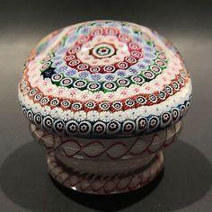 Rare 1953 Saint Louis Art Glass Paperweight Complex Millefiori Piedouche
