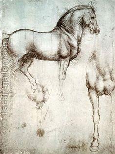 Leonardo Da Vinci:Study of horses