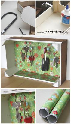 Bunte Schlüsselkiste - HANDMADE Kultur Caixa de chave colorida and Crate Crate Bed, Crate Nightstand, Dog Crate, Key Box, Home Decor Baskets, Ikea Shelves, Rustic Crafts, Wooden Crates, Milk Crates
