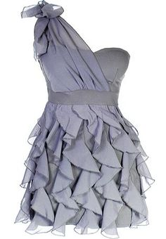A fashion look from July 2012 featuring ruffle dress, silver purses and sterling silver jewelry. Browse and shop related looks. Pretty Outfits, Pretty Dresses, Cute Outfits, Diy Vetement, Frill Dress, Ruched Dress, Mesh Dress, Chiffon Dress, Flower Girls