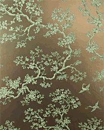 The Cranes Terra Verte/Lavender Bush från Signature Prints