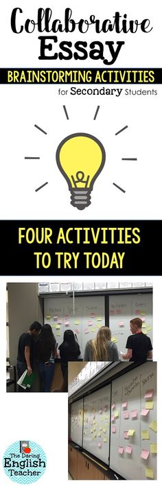 Brainstorming is an important part of the writing process. Begin your next essay with some collaborative essay brainstorming strategies that will get your students engaged, motivated, and ready to write.