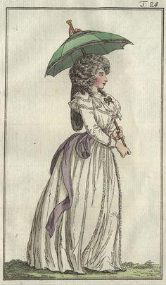"""""""Robe a La Chemise""""""""Chemise von Neuer Form"""" from September 1790 in the Journal des Luxus und der Moden"""