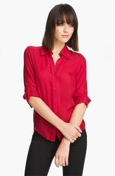 3e5395ea987 Alice + Olivia  Thea  Stretch Silk Shirt available at Nordstrom  295 Alice  Olivia