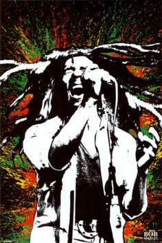 Bob Marley - Paint Splash Poster