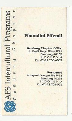 AFS Intercultural Programs - Vinondini Effendi