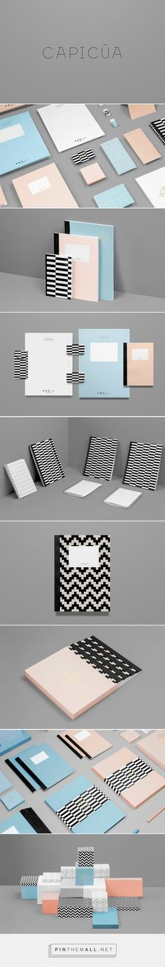 Branding & packaging for Capicúa by Anagrama || pastel designs with black and white patterns