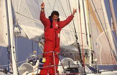 """Alain Gautier vainqueur de la 2e édition du Vendée Globe : """"de 80-85% aventure et 15-20% compétition, c'est devenu l'inverse"""" #VG2012 #voile  Archives Philippe Chérel / Ouest-France"""