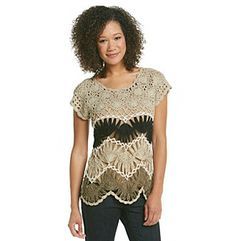Product: Fever™ Crochet Pullover Sweater Looks great over a white or black camisole, great way to dress up jeans.