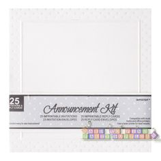 Bridal Shower Imprintable Announcement Kit Invitations and Reply Cards w/ Env. (25ct)    Hard To Find Party Supplies