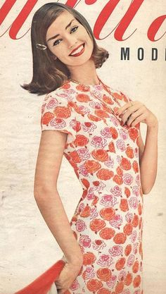 Dolores Hawkins as seen on the cover of Burda, July 1958