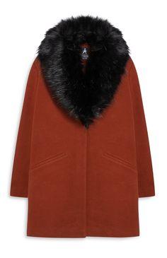 Primark - Faux Fur Collar Coat