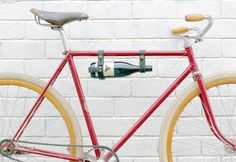 An Oopsmark bicycle wine rack. Your summer necessity.