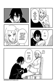 During Sakura's pregnancy days, Sasuke is always there :)   Uchiha Family