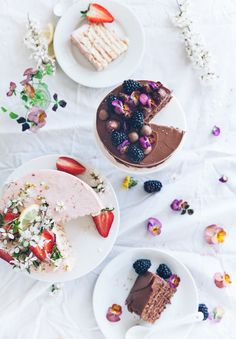 Rhubarb+strawberry & chocolate+nutella vertical roll cakes
