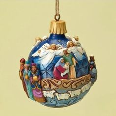 Jim Shore Nativity Ornament - from Red Rooster Quilts Nativity Ornaments, Christmas Nativity Scene, Noel Christmas, Hanging Ornaments, Christmas Balls, Holiday Ornaments, Christmas Crafts, Christmas Decorations, Xmas