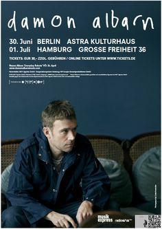 Damon Albarn: Zwei Konzerte in Hamburg und Berlin