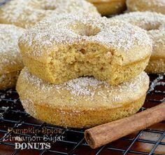 Pumpkin Spice Cinnamon Sugar Donuts - Sprinkle Some Sugar