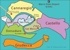 Venice Sestiere Map www.muranopassion.com