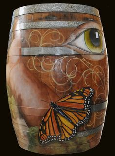 painted wine barrels - Google Search