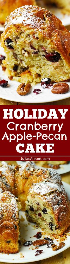 Espresso Pound Cake With Cranberries And Pecans Recipe — Dishmaps
