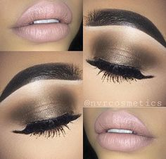 Need to learn how to do my makeup like this by glamstagram Beautiful Eye Makeup, Love Makeup, Makeup Inspo, Makeup Inspiration, Makeup Tips, Makeup Looks, Hair Makeup, Stunning Eyes, Special Occasion Makeup